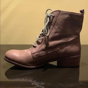 Dolce Vita Madrona All Leather Lace-up Bootie